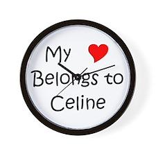 Cute Celine Wall Clock