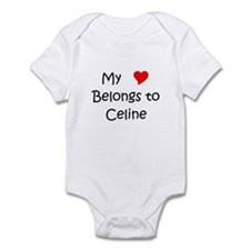 Cute My heart belongs Infant Bodysuit