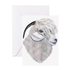 Angora Goat Portrait Greeting Card