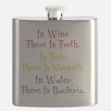 IN WINE THERE IS TRUTH Flask