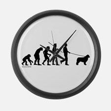 Newfie Evolution Large Wall Clock