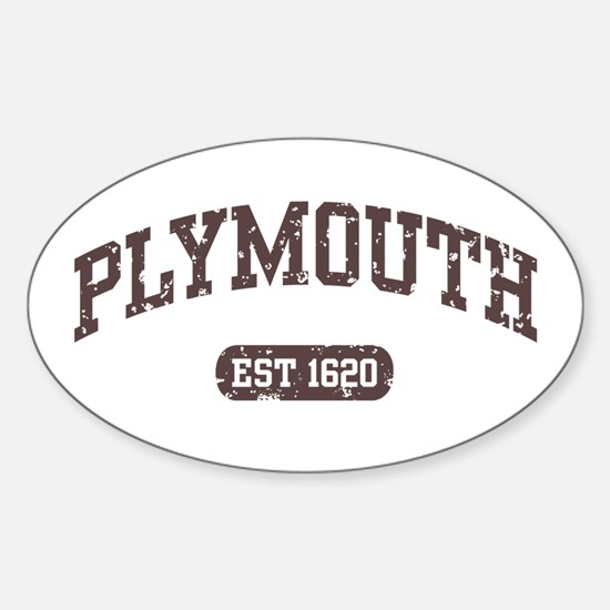 Plymouth Est 1620 Oval Decal