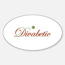 DIVA THE HALLS Oval Decal