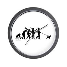 Border Terrier Evolution Wall Clock