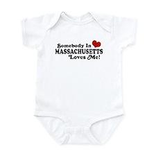 Somebody in Massachusetts Loves Me Infant Bodysuit