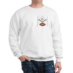 Masonic Football Goalposts Sweatshirt