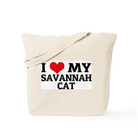 I Love My Savannah Cat Tote Bag