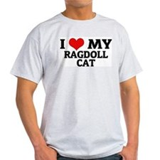 I Love My Ragdoll Cat Ash Grey T-Shirt