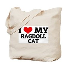 I Love My Ragdoll Cat Tote Bag