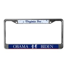 Virginia for Obama License Plate Frame
