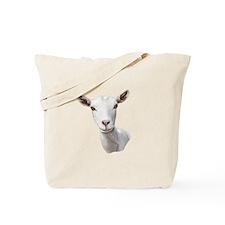 Saanen Goat Portrait Tote Bag
