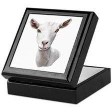 Saanen Goat Portrait Keepsake Box