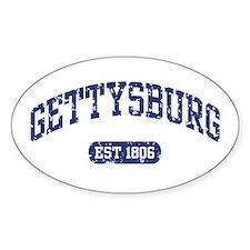 Gettysburg Est 1806 Oval Decal