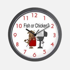 Fish or Chicken? Wall Clock