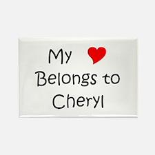 Unique Cheryl Rectangle Magnet