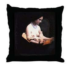 Antique Nude (XII) 1850's Gothic Throw Pillow