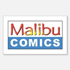 Malibu Comics Rectangle Decal