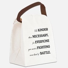 BE KINDER... Canvas Lunch Bag
