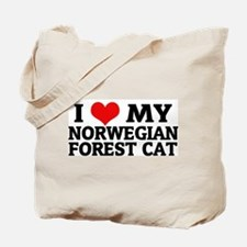 I Love My Norwegian Forest Ca Tote Bag