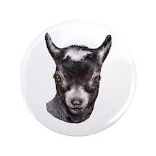 """Pygmy Goat Portrait 3.5"""" Button"""