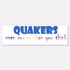 Quakers, even cooler... Bumper Car Car Sticker