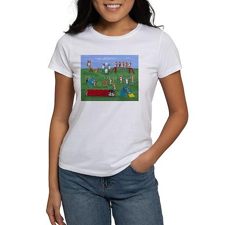 Agility Corgis Gone Wild! Pem Women's T-Shirt