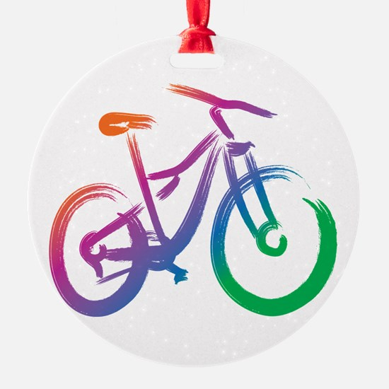 Vivid Mountain Bike Ornament