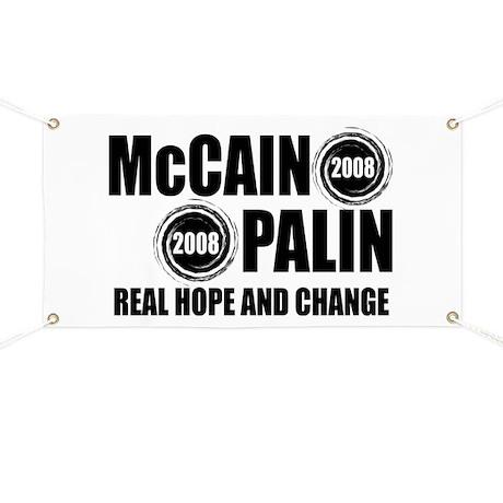 McCain Palin Change Banner