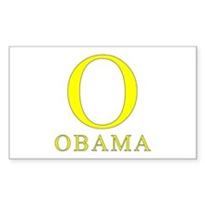 Yellow Obama O Rectangle Decal