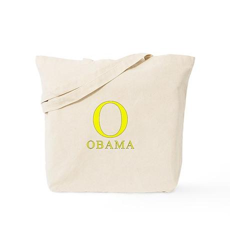Yellow Obama O Tote Bag