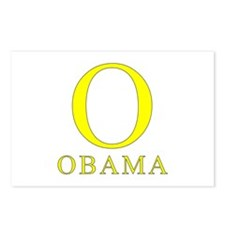 Yellow Obama O Postcards (Package of 8)
