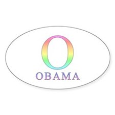 Pastel Obama O Oval Decal