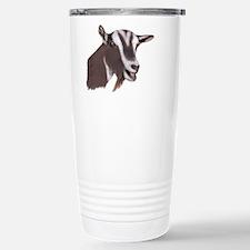 Toggenburg Goat Portrait Travel Mug