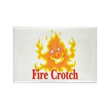 Fire Crotch Rectangle Magnet