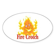 Fire Crotch Oval Decal