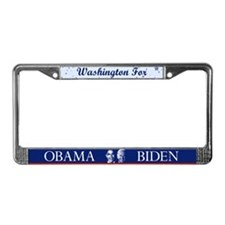 Washington for Obama License Plate Frame