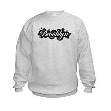 Sweatshirt BK Smile WHt/Black Cloud