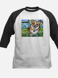 Welsh Corgi Fairy dog Kids Baseball Jersey