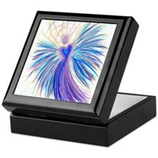 Indigo Crystal Angel Keepsake Box