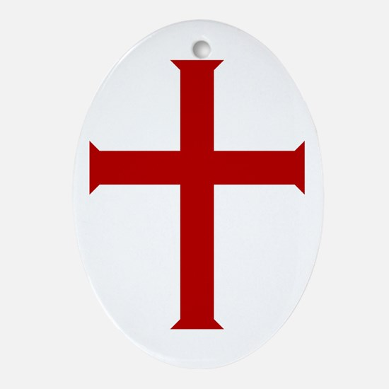 """Crusader"" Oval Ornament"