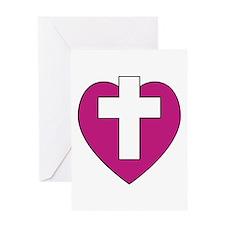Cross Heart Card (blank)
