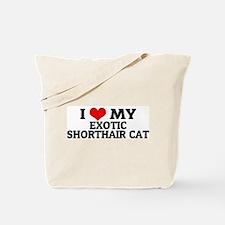 I Love My Exotic Shorthair Ca Tote Bag