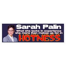Palin is Hot Bumper Bumper Sticker