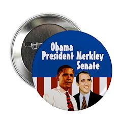 Barack Obama Jeff Merkley Campaign Button