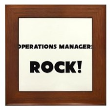 Operations Managers ROCK Framed Tile