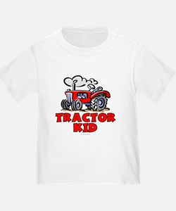 Red Tractor Kid T