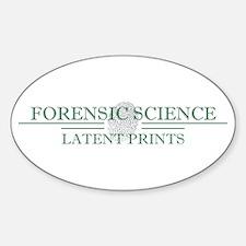 Latent Prints Sticker (Oval)
