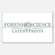Latent Prints Sticker (Rectangle)