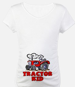 Red Tractor Kid Shirt