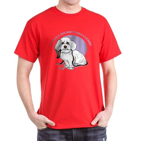 Real Men Walk Bichons Dark T-Shirt